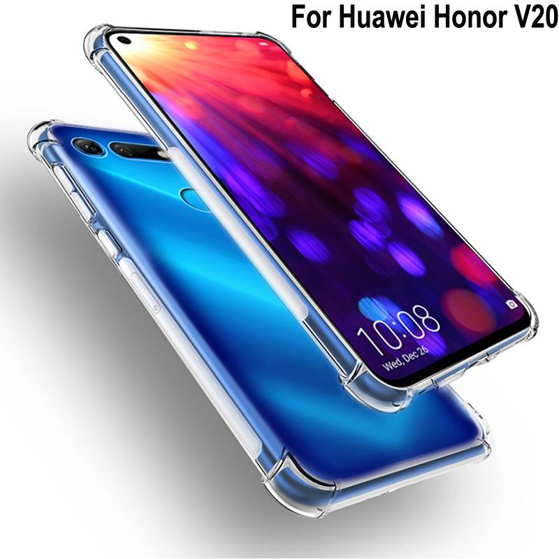 Luxury Shockproof Clear Soft Case Capa For Huawei Honor V20 Phone Case Silicone Back Cover For Honor V20 HonorV20 PCT-AL10 Shell