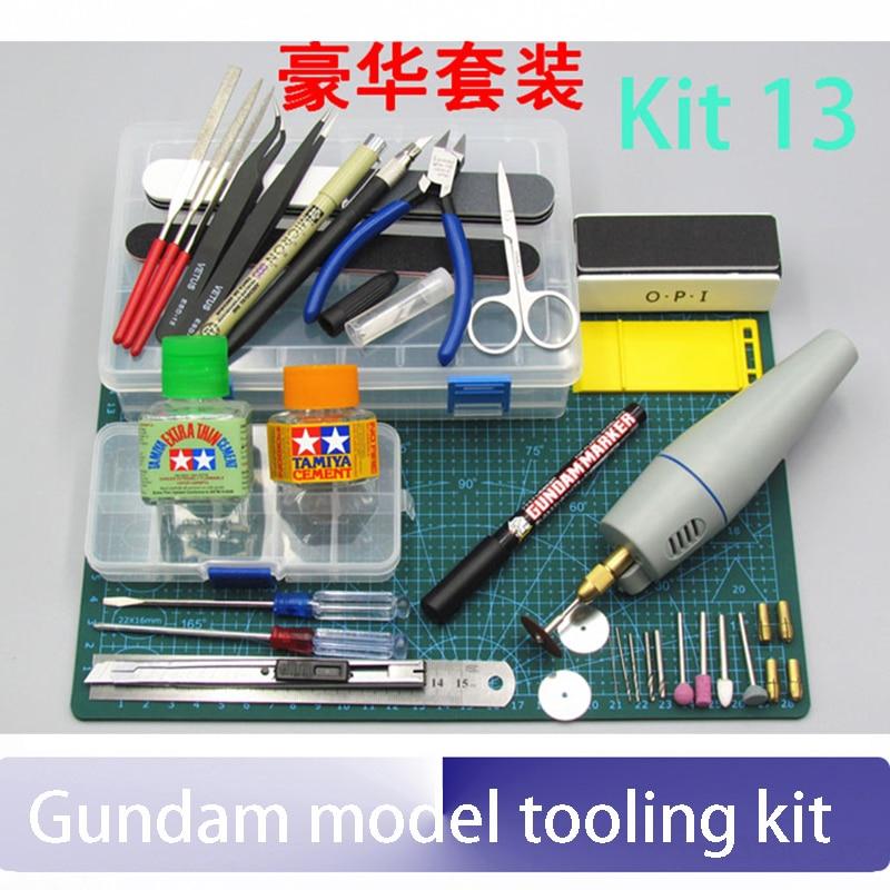 Gundam model tooling kit set the military model base group Gundam assembly model tool novice entry for DIY 135 camera model diy assembly kit black
