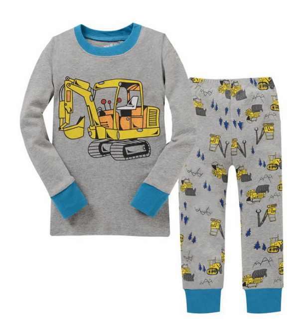 Meninos Pijamas De Algodão Set Crianças Bonito princesa Dos Desenhos Animados do bebê Pijamas Terno 2 pc de manga comprida T-shirt + Calças crianças Sleepwear YW268