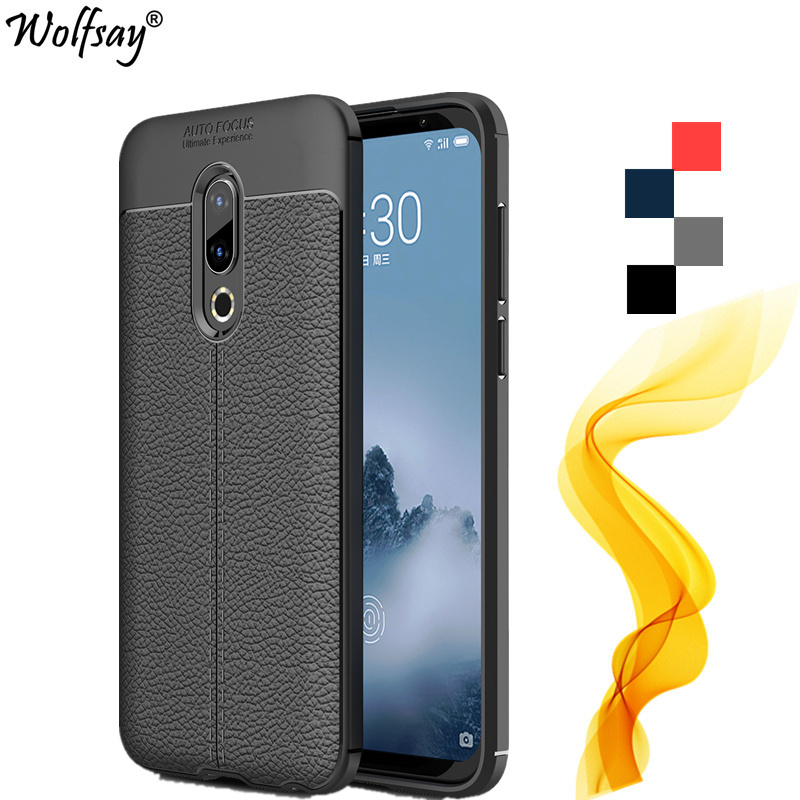 Cover <font><b>Meizu</b></font> 16th Case M882Q 845 6.0inch Full Protective Lichee Rugged Silicone Cover For <font><b>Meizu</b></font> <font><b>16</b></font> Case For <font><b>Meizu</b></font> 16th Phone Case image