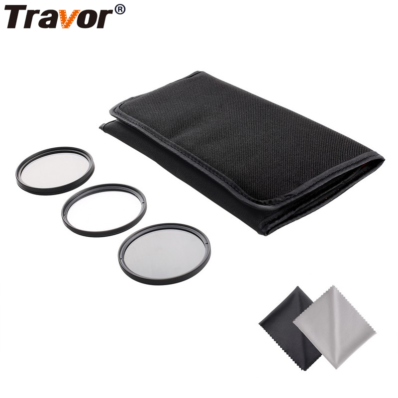 Travor 49MM 52MM 55MM 58MM 62MM 67MM 72MM 77MM Altura Photo Professional Photography Filter Kit UV/CPL/ND4 for Camera Lens