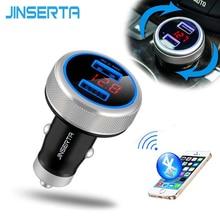 2016 Новый Bluetooth Handsfree FM Передатчик Автомобильный Mp3-плеер Монитор Напряжения Быстрое Зарядное Устройство Адаптер Dual USB Порт