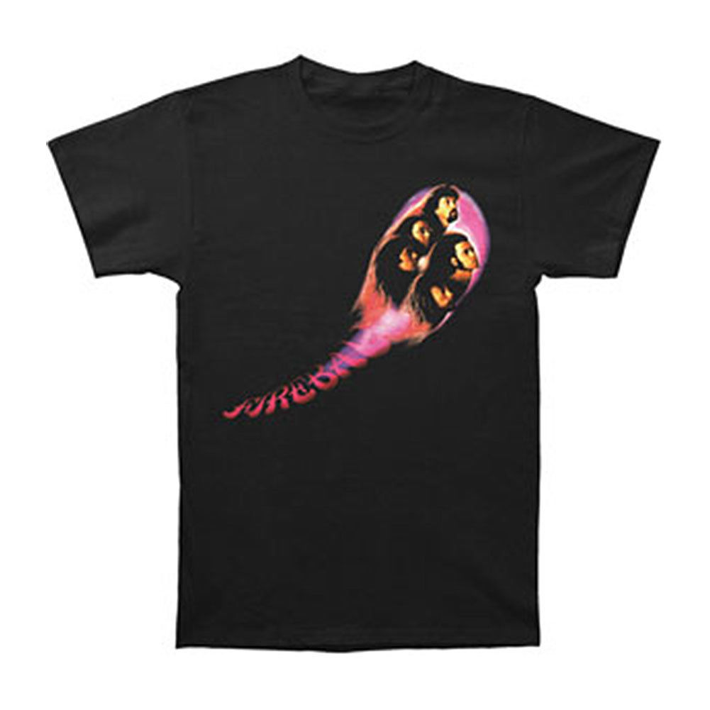 Deep Purple Mens Fireball T-shirt Large Black
