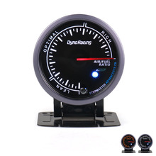 Dynoracing 60 мм Автомобильный датчик соотношения воздушного топлива с черным лицом измеритель соотношения воздушного топлива с белым и янтарным освещением автомобильный измеритель