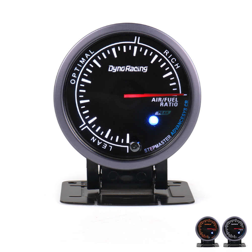 Dynoracing 60MM Car Air Fuel Ratio Gauges Black Face Air Fuel Ratio Meter With White & Amber Lighting Car meter