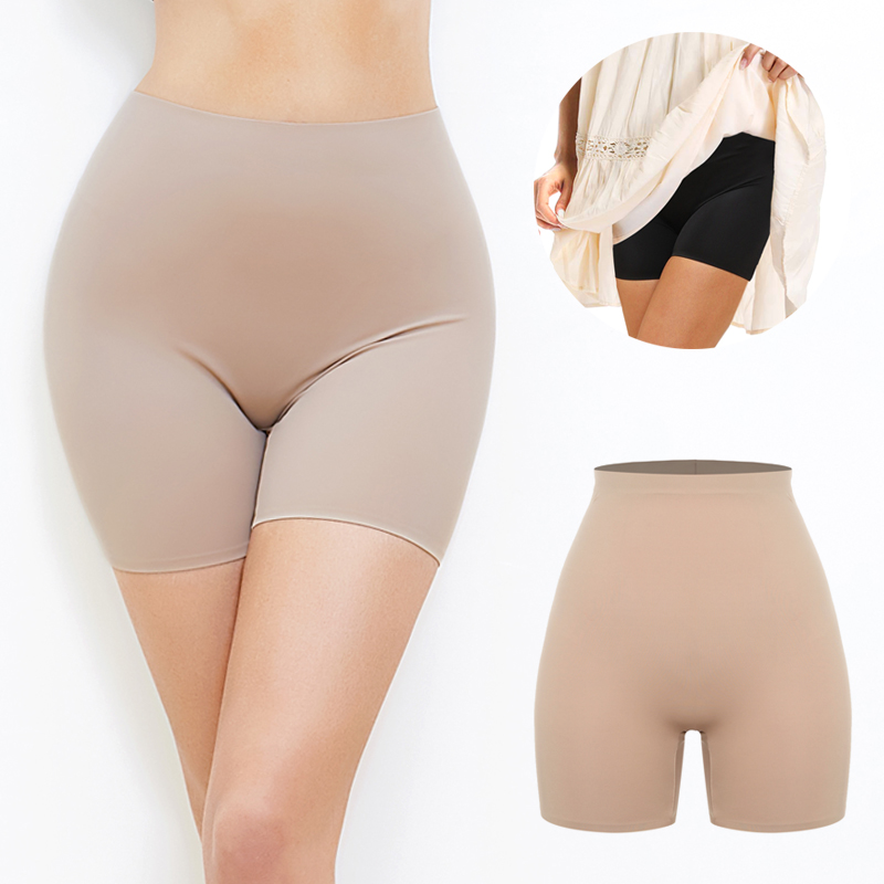 Anti Chafing Safety Pants Femme Invisible Shorts Under Skirt Ladies Seamless Underwear Ultra Thin Comfortable Control Panties