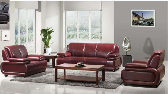 Hotel Office Reception Sofa Red Leather Large Price Advantages