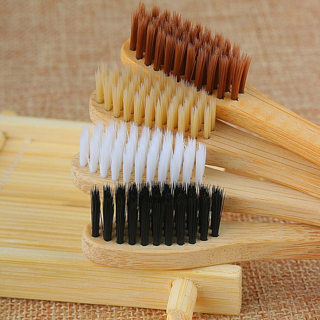 1PC Environmental Bamboo Charcoal Health Toothbrush  For Oral Care Teeth Cleaning Eco Medium Soft Bristle Brushes 2