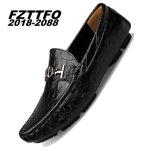 38-46 men loafers Top quality Genuine leather comfortable handsome brand men flats K476