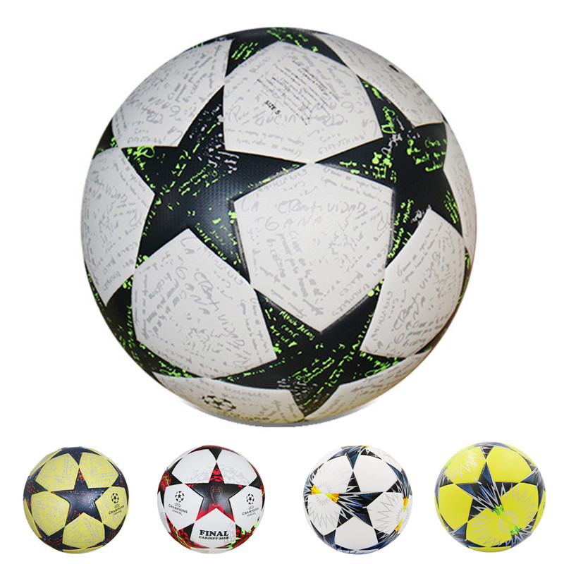 High Quality Champions League Official Size 5 Seamless Soccer ball Anti-slip PU Sports Training Star Football For Youth ...