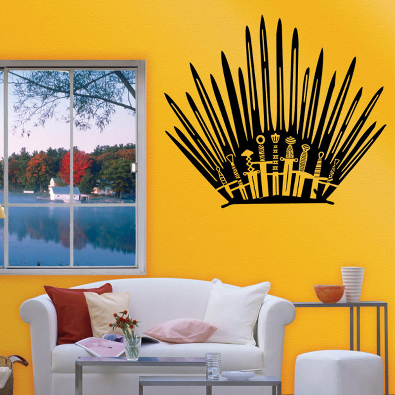 Sculpte Amovible Creative Stickers Muraux Game Of Thrones Toilette