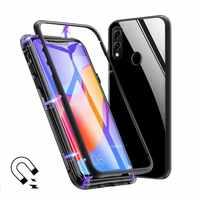 Magnetische Metall Fall Für Huawei P30 P20 Mate 20 Pro Lite 20X Honor 10 Lite V10 V20 8X Max Nova 3i 5i 4 3 5 Pro Klar Glas Abdeckung