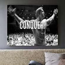 Arnold Schwarzenegger Conquer Canvas Art Print Painting Poster Wall Pictures For Room Home Decoration Decor No Frame