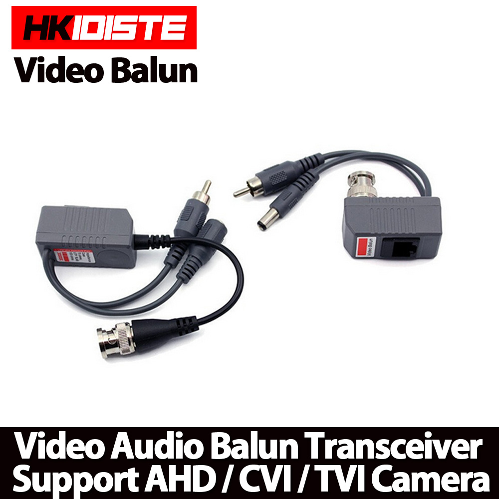 Hot UTP CCTV BNC video Balun power Passive Balun Rj45,POE Power Video Audio 3 in 1 Transceivers CCTV spare parts free shipping single channel power video audio transceivers set cement grey