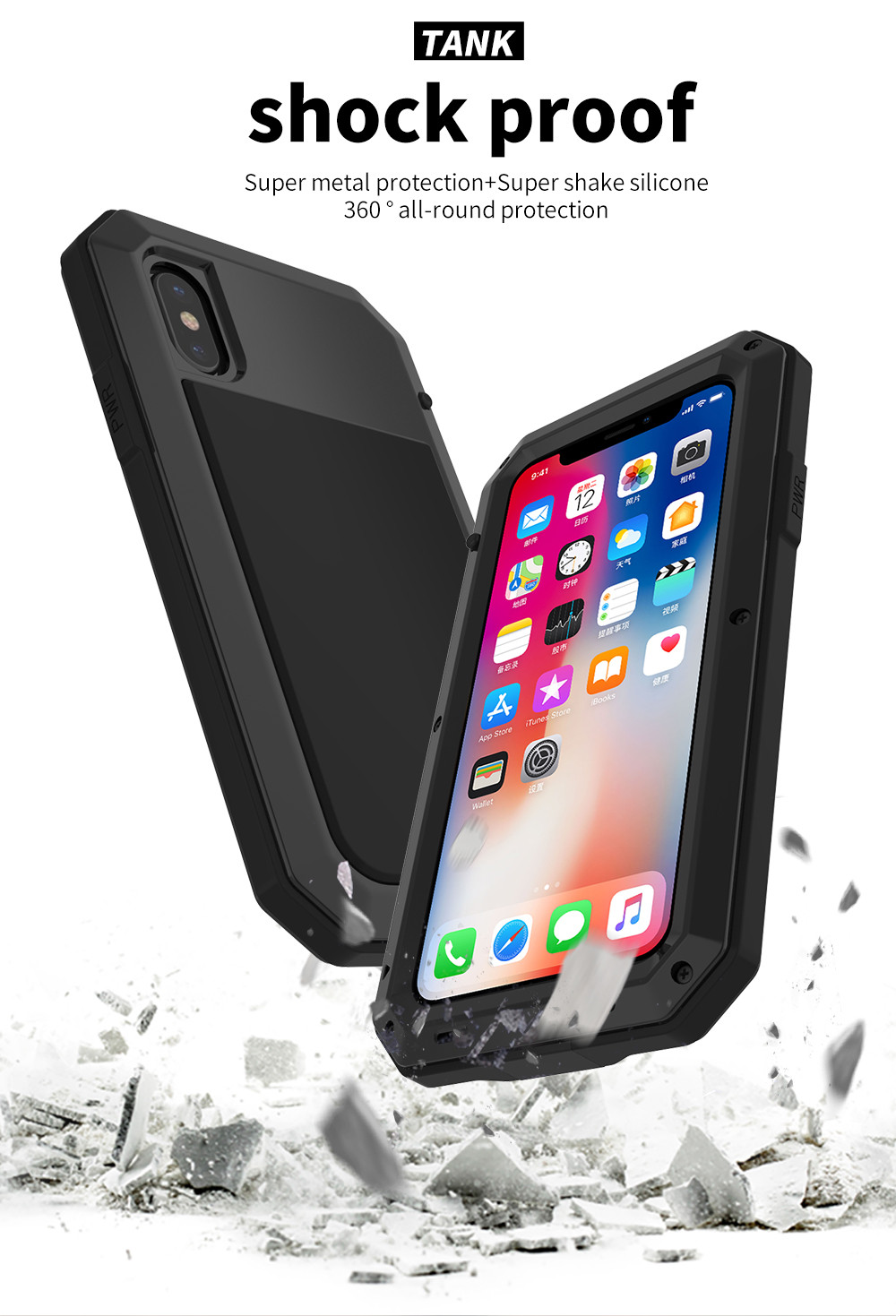 HTB1Ea1FeH5YBuNjSspoq6zeNFXaJ Heavy Duty Protection Doom armor Metal Aluminum phone Case for iPhone 11 Pro Max XR XS MAX 6 6S 7 8 Plus X 5S 5 Shockproof Cover