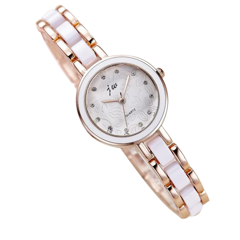 Fashion women waterproof Quartz gold Watch Ladies elegant Automatic lips dress wristwatch top quality woman famous