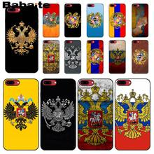 Babaite Rusia Lambang Double Headed Eagle Ponsel Case Penutup untuk Apple Iphone 8 7 6 6S PLUS X XS Max 5 5S SE XR Ponsel Kasus(China)