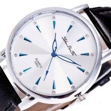 Модные Простые масштаба Сплав серебра циферблат коричневый кожаный ремешок 20 мм Для мужчин Пара Спортивные кварцевые часы черный наручные Для мужчин S часы C177