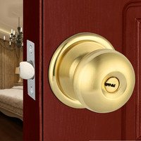 Free Shipping Gold Silver High quality Indoor Room Ball Type Bedroom Door Knob Lock