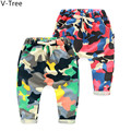 Spring Boys Girls Haroun Pants Infant Children Cotton Pile Loop Trousers Toddler Camouflage Pants Baby Kids Sports Pant S2H0032