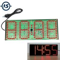 IS Red LED Display Clock DIY Module Kit 1 inch ECL 132 DIY Clock Kit Remote Control Clock Suit LED Time Screen Display Kit