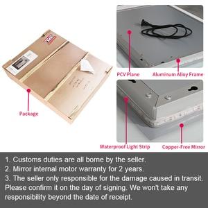 Image 5 - Gisha inteligentne lusterko lusterko łazienkowe z oświetleniem led ścienne lustro łazienkowe toaleta wc Anti fog lustro z ekran dotykowy Bluetooth G8047