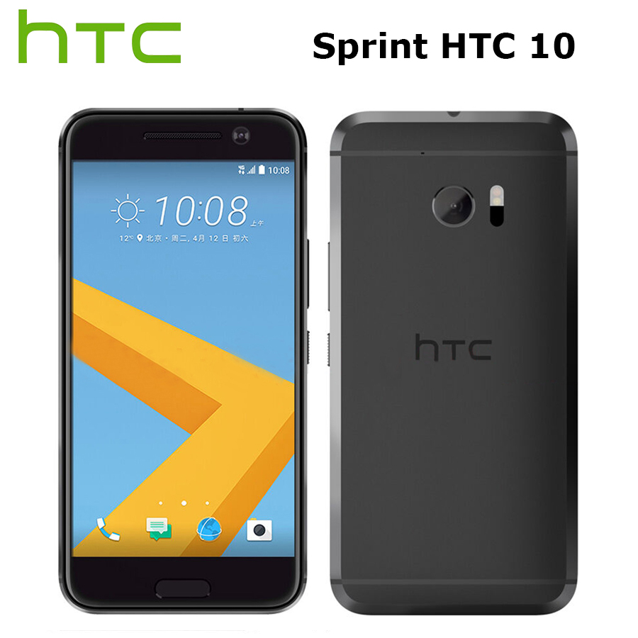 Sprint Versão HTC 10 M10 4G Telemóvel 5.2 polegada 2560x1440 p 32 4 GB RAM GB ROM Quad Core NFC 12MP Callphone Impressão Digital Android