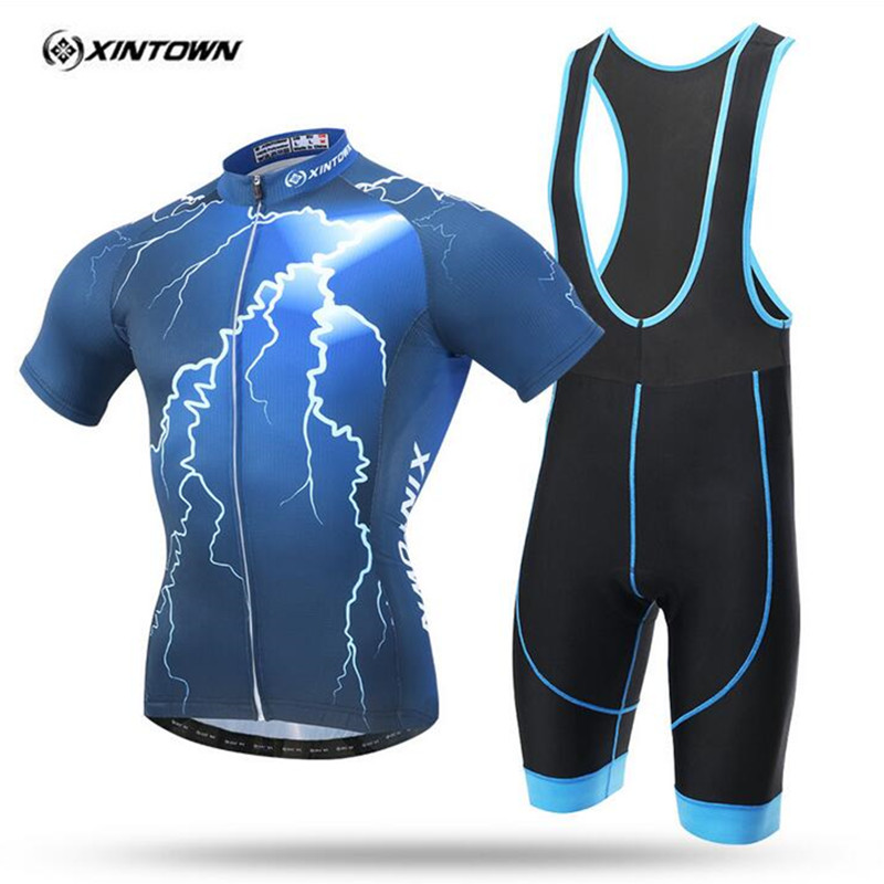 XINTOWN 2017 New pattern Cheji Bike Bicycle Clothing Lightning Cycling Wear For Man Short sleeve jersey