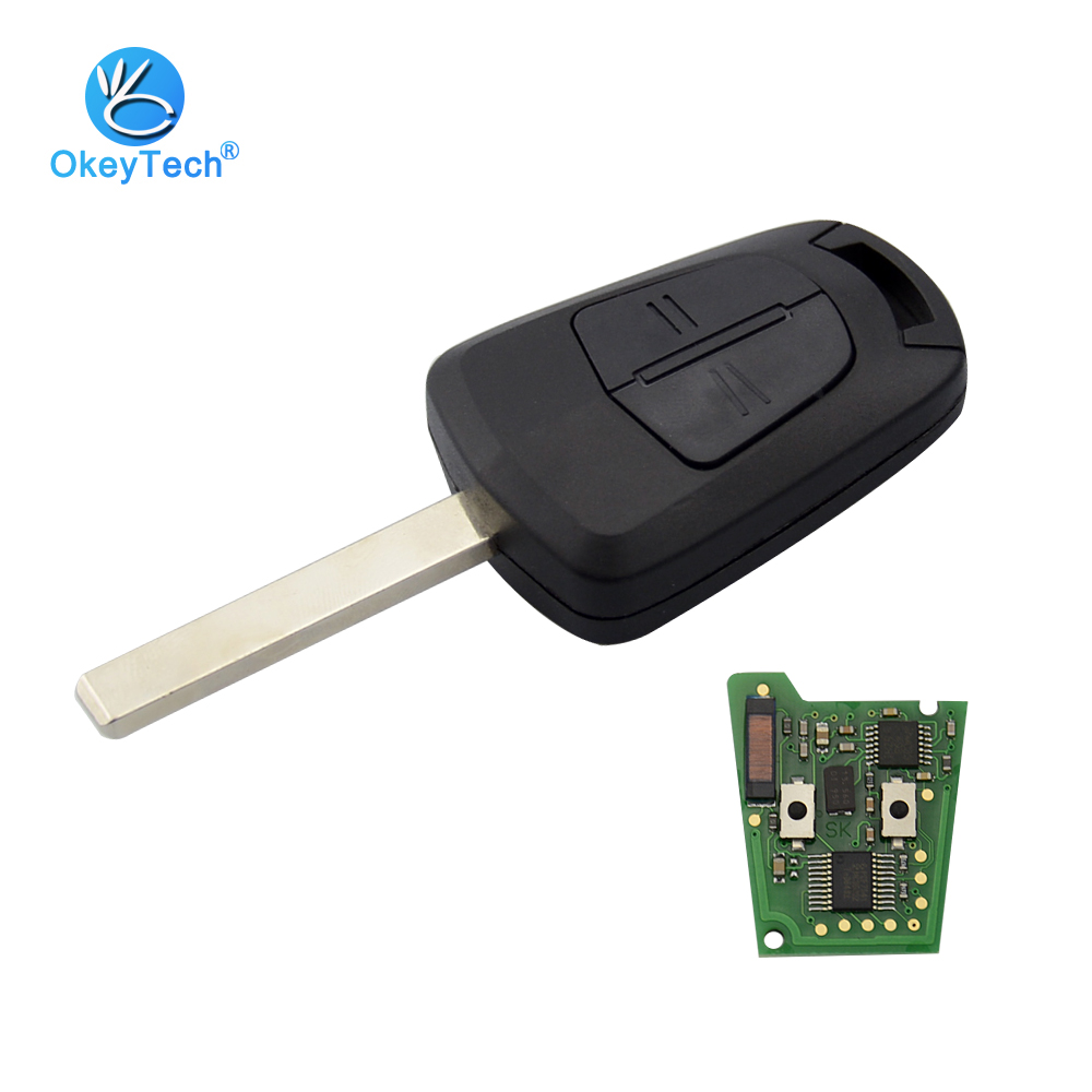 OkeyTech for OPEL Vauxhall Astra H J Corsa Insignia Remote Control Car Key Case 433Mhz ID46 PCF7941 Chip HU100 Blade Accessories audew 18 led license number plate light for vauxhall opel corsa c d astra h insignia