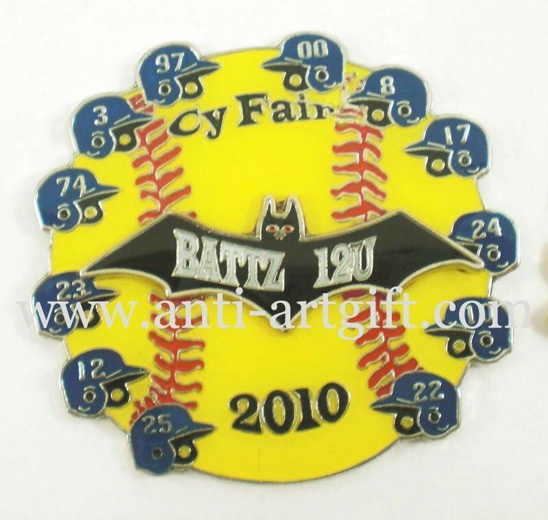 """Заказ Окт бейсбольные значки """" в США высокого качества клуб значки быстрое производство без минимальный объем заказа"""
