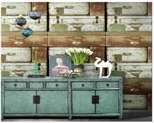 beibehang Vintage drawer box antique wood grain papel de parede wall paper clothing store industrial wind barber shop wallpaper 4 colors modern fashion wood pvc wateroof wallpaper papel de parede clothing store milk tea coffee bar derector wall paper roll