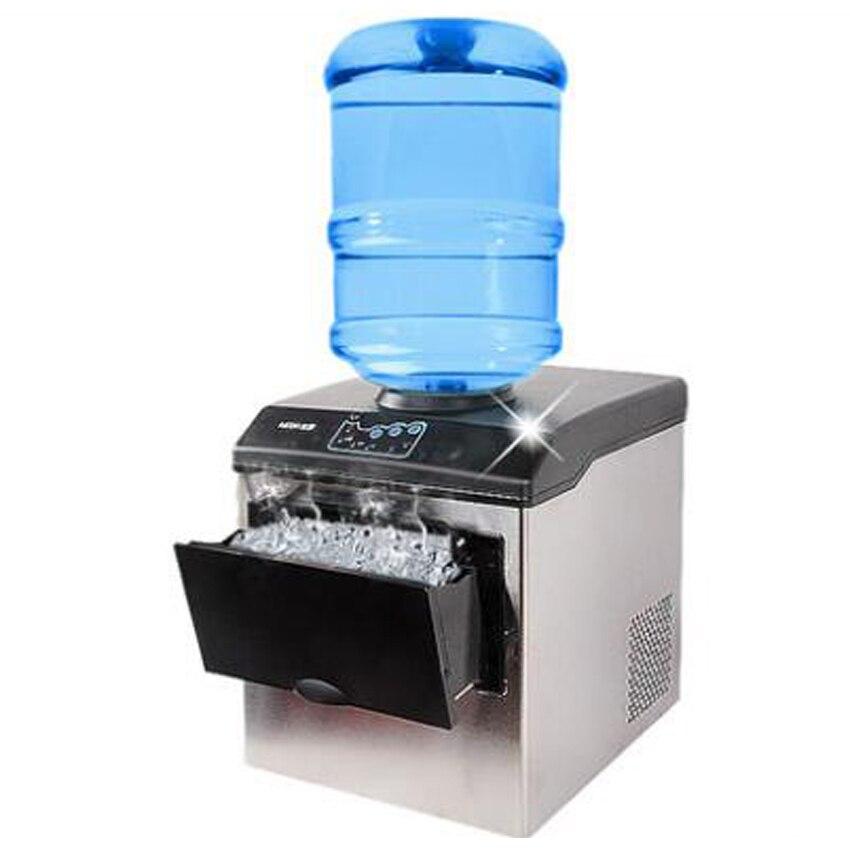 1PC HZB25 220V 160W 25KG Electric Commercial Countertop Bullet Ice Maker Machine Milk Tea Shop