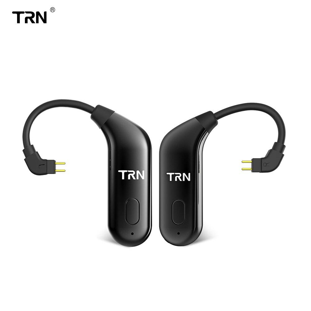TRN BT20 Double Sans Fil Bluetooth 5.0 Crochet D'oreille Mise À Niveau Eaphone Câble 2PIN/MMCX Utiliser Pour V20 V60 V80 Yinyoo HQ6 HQ8 KZ AS10/ZS10