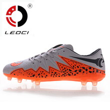 LEOCI New Men Kids Football Boots AG Soccer Shoes Boys Adult Artificial Grass Ground Soccer Cleats Botas De Futbol Size 33-44