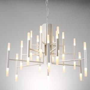 Image 4 - Moderno Ferro Ramo di Arte Star Lampadario di Moda soggiorno Ristorante A Tema Nordic lampada Luce lusso lampada acrilica