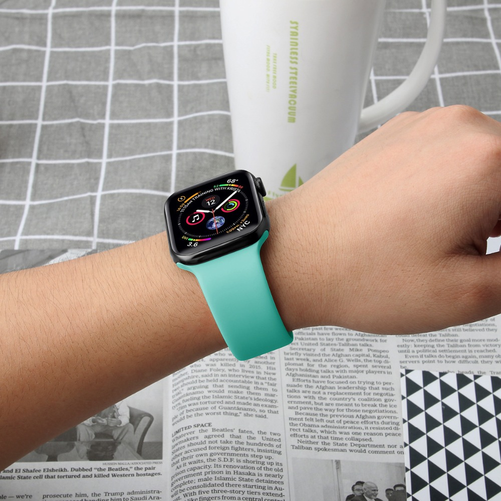EIMO ремешок для Apple Watch группа iwatch 4 группа 38 мм 42 44 40 3 pulseira часы correa браслет Спорт силиконовые аксессуары