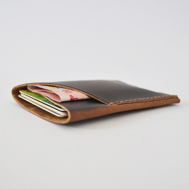 Véritable cuir porte carte bancaire étui pour cartes de crédit à la main Crazy Horse portefeuille pour cartes étui pour protéger les cartes de crédit