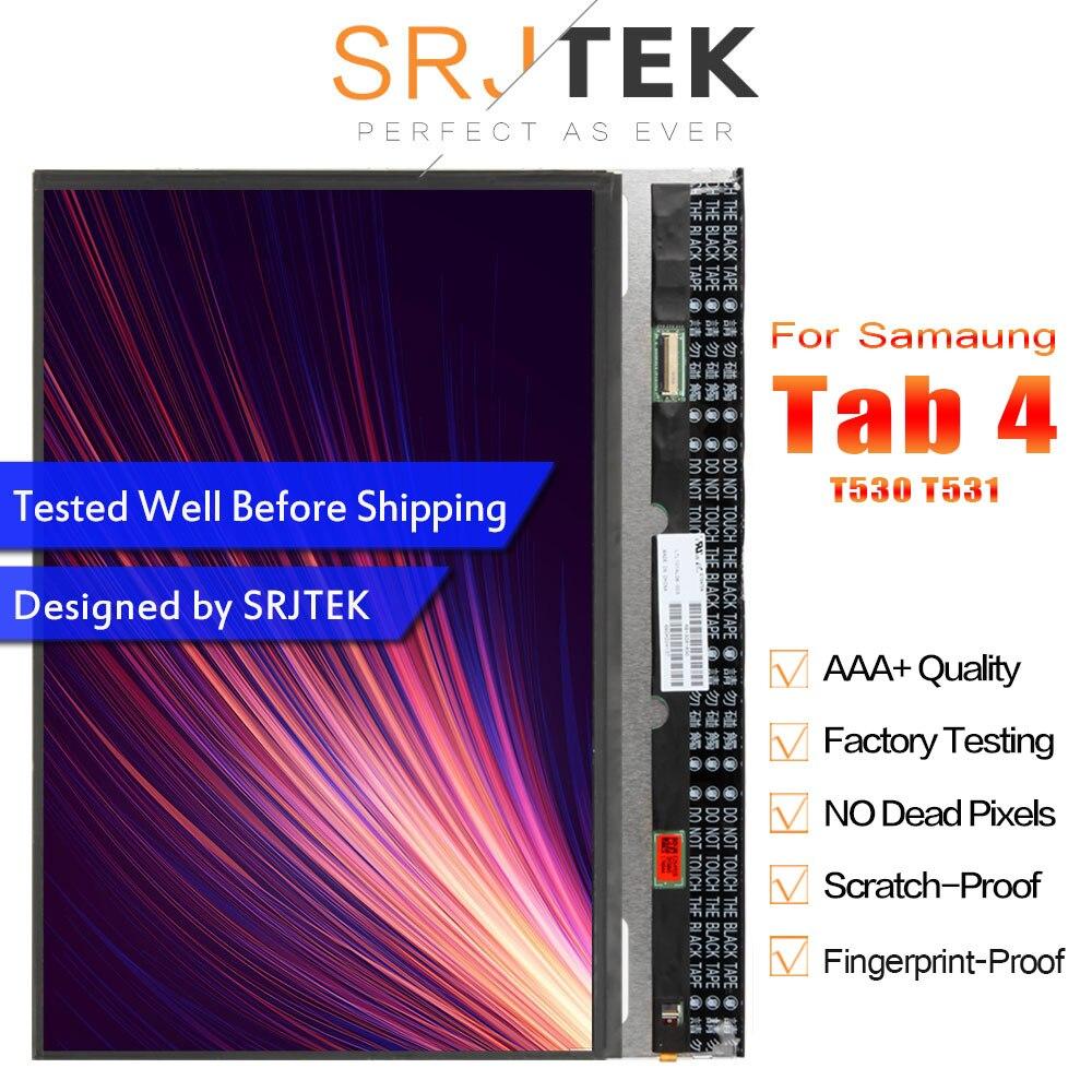 SRJTEK LCD Pour Samsung Galaxy Tab 4 T530 T531 SM-T530 T535 SM-T531 SM-T535 Matrice Écran Panneau D'affichage D'affichage À CRISTAUX LIQUIDES de Tablette PC De Remplacement