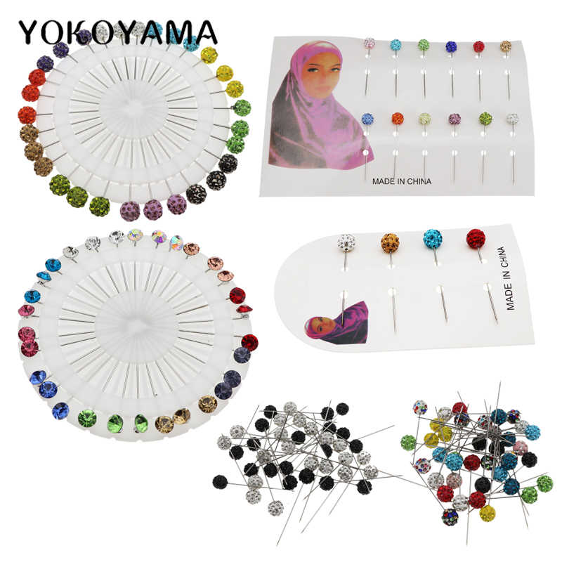 YOKOYAMA 40Pcs/30Pcs/12Pcs/4Pcs Colorful Diamond Pin Fixed Pin Sewing Needle Wedding Corsage Dressmaking Sewing Pin Accessories