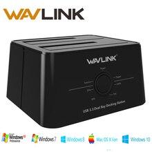 Wavlink USB 3.1 typec SATA Dual Bay док-станции 2.5/3.5 SSD HDD SATA 1/2/ 3 корпус для 2*8 TB с форума Клон Резервное копирование