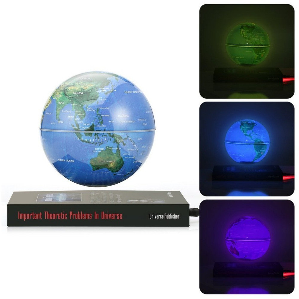 6inch Luminous Magnetic Rotating Globe Anti-Gravity Floating Levitating Earth 360-degree Rotating For Desktop Office Home Decor muhammad haris afzal use of earth s magnetic field for pedestrian navigation