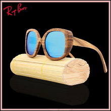 New Luxury Bamboo Sunglasses Mirror Lens Wood Glasses Sunglasses Polarized Bamboo Sunglasses Wood sunglasses made in China