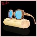New bamboo luxo óculos de sol da lente do espelho óculos polarizados óculos de sol óculos de sol de bambu de madeira óculos de sol de madeira made in china