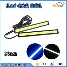 2pcs14cm white blue COB LED Lights DRL strip Daytime Running Light car lights Auto fog Lamp
