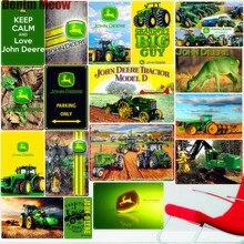 Farm Tractor Metal Signs Farming Vintage Iron Poster Retro Plaque Excavator Wall Decor Plate Tin Sign for Garage Farm Decor A357
