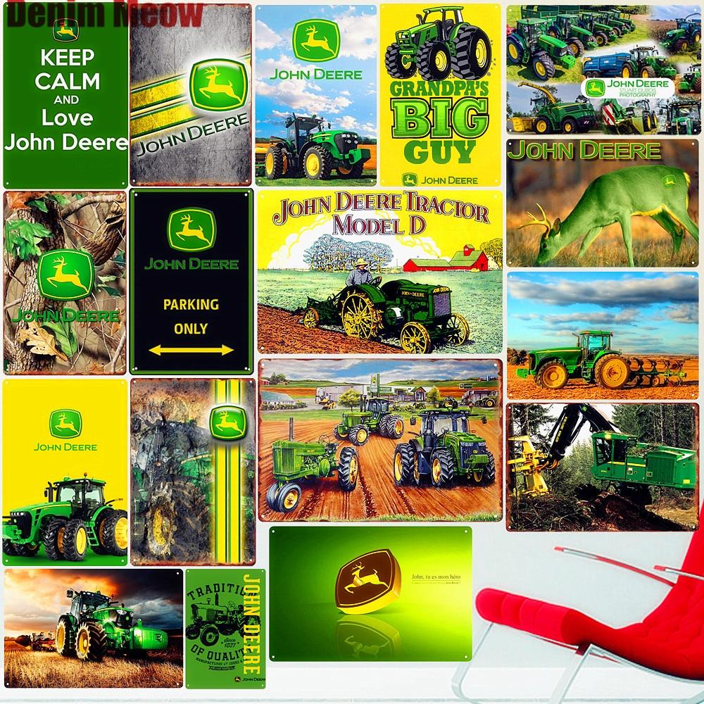 Letrero de Metal para Tractor de granja, cartel de hierro Vintage para agricultura, placa Retro Para excavadora, placa de decoración de pared, letrero de estaño para garaje, decoración de granja, A357