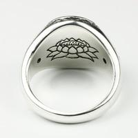 925 Sterling Silver Buddha Ring 2