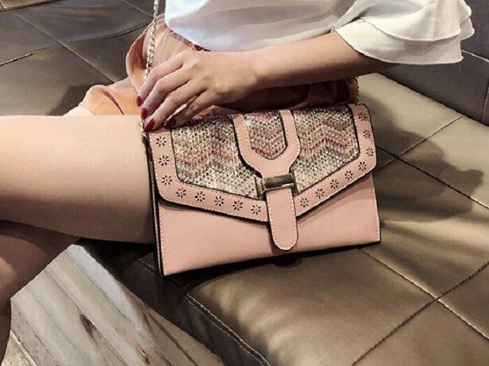 Per Le Modo Di Borse Spalla Nuovo silver Donne Della Stile Bag Del Floreale Sacchetto Nazionale Pink Busta Crossbody Retro Catena gfxwqP4Bv