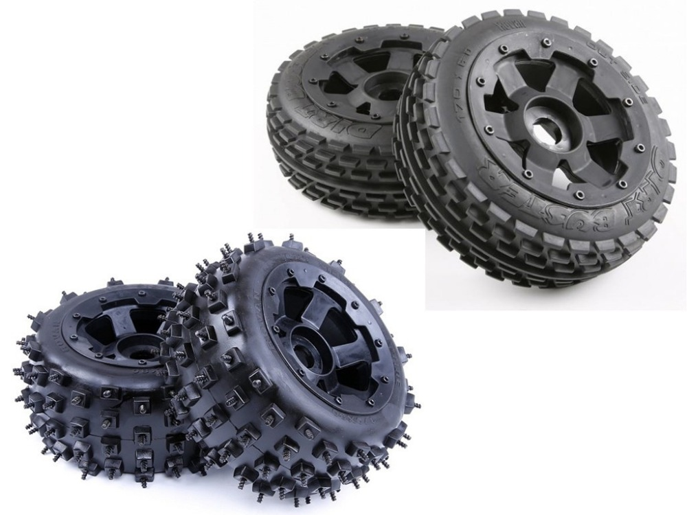 Kit de roue à ongles ROVAN en friche pour pneus tout-terrain pour HPI KM Baja 5B