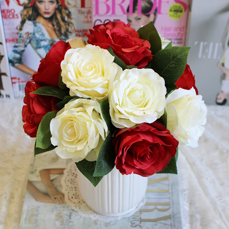 High-end Artificial Wedding Bouquet Artificial Flowers Home Living Room Decorative Atmosphere Party Decor Layout Supplies P m